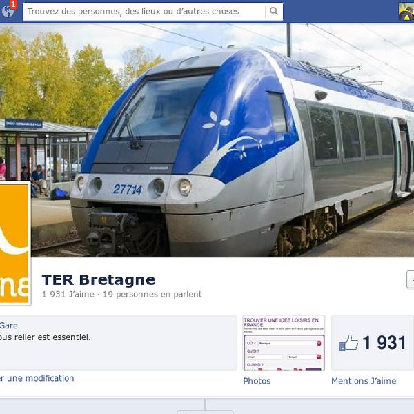 Page Facebook de TER Bretagne