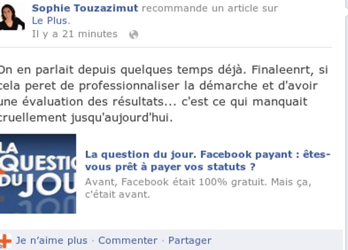 Facebook : les entreprises doivent payer. 0