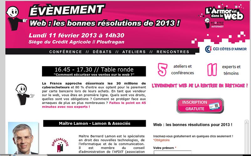 L''Armor est dans le web : rendez-vous le Février 2012 0
