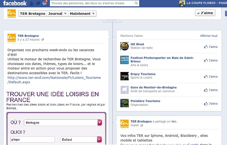 Page Facebook de TER Bretagne ter-2