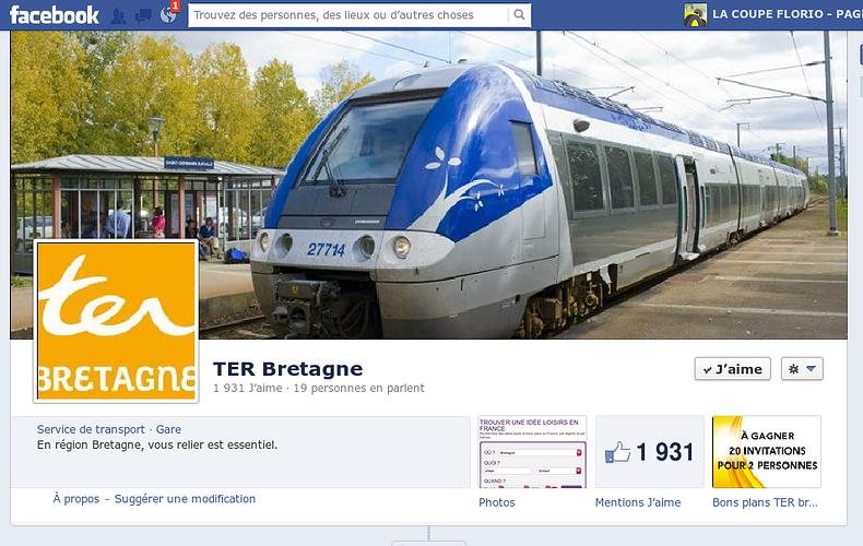 Page Facebook de TER Bretagne 0