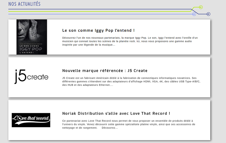 Noriak Distribution et Noriak Réseau : ecommerce, en refonte no2