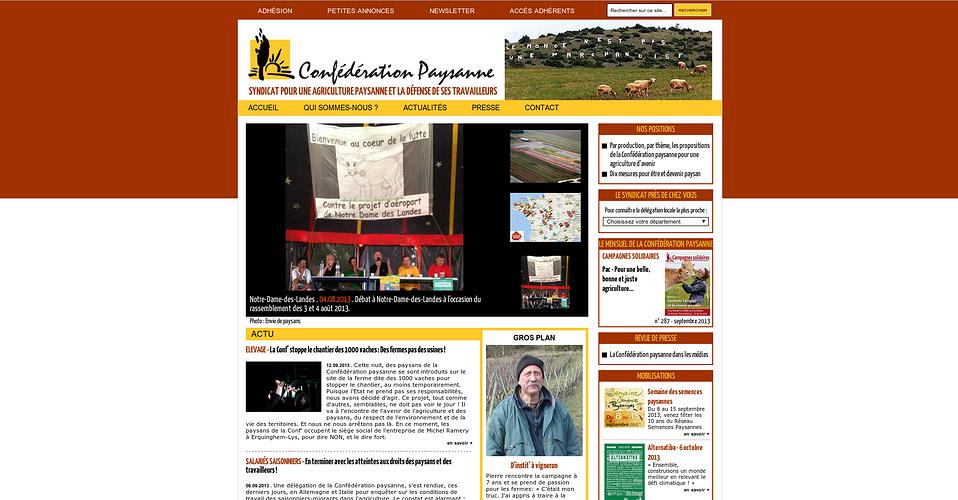 Confédération paysanne confederationcapture