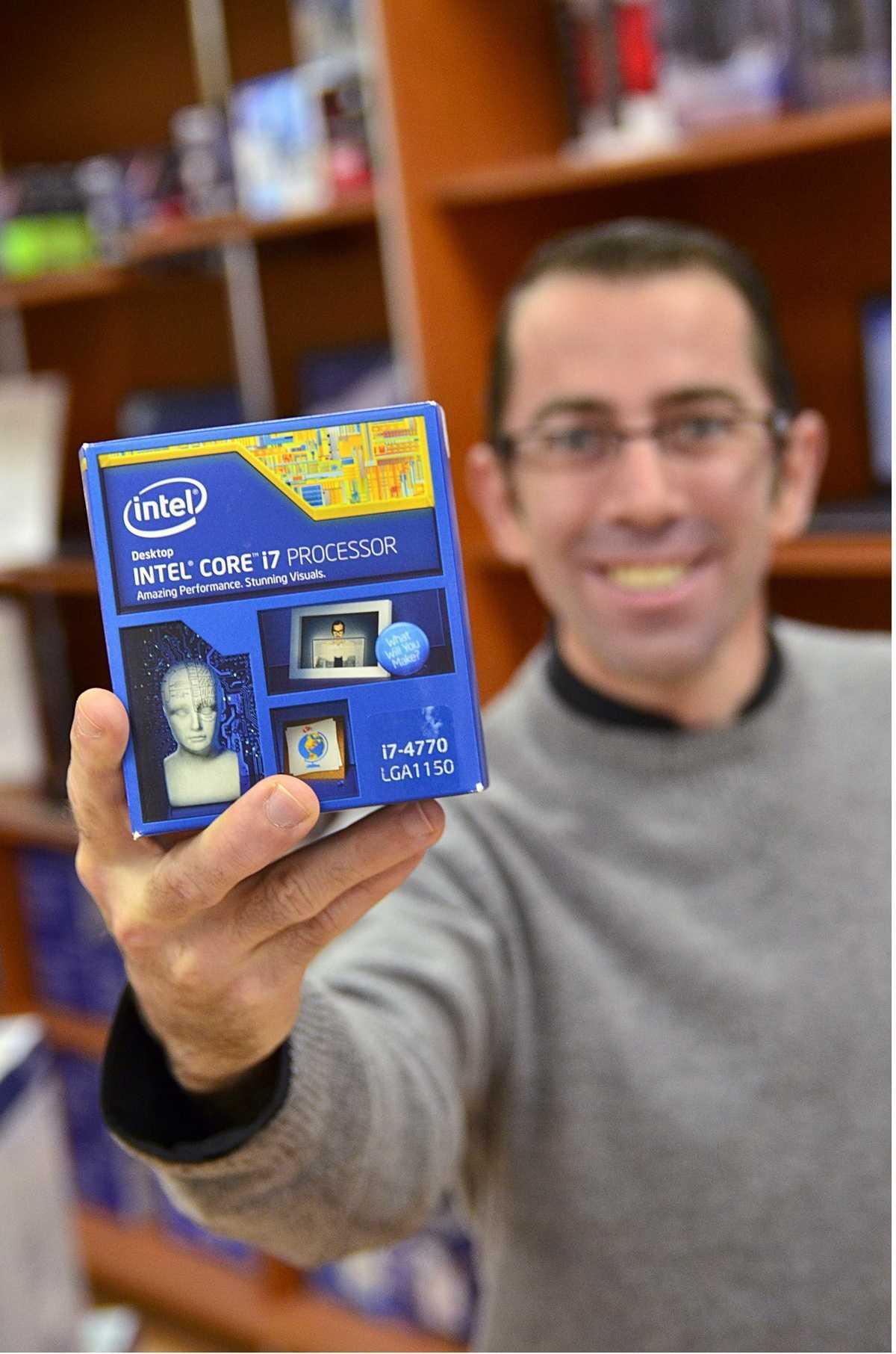 un micro processeur 4 coeurs : intel core 7 pocessor