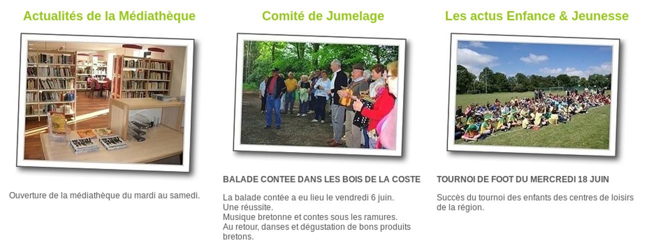 Mairie de Saint-Julien, Côtes d''Armor - site Internet st-julien-2
