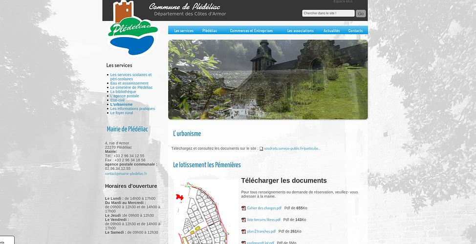 Création du site de la ville de Plédéliac, Côtes d''Armor pledeliac2