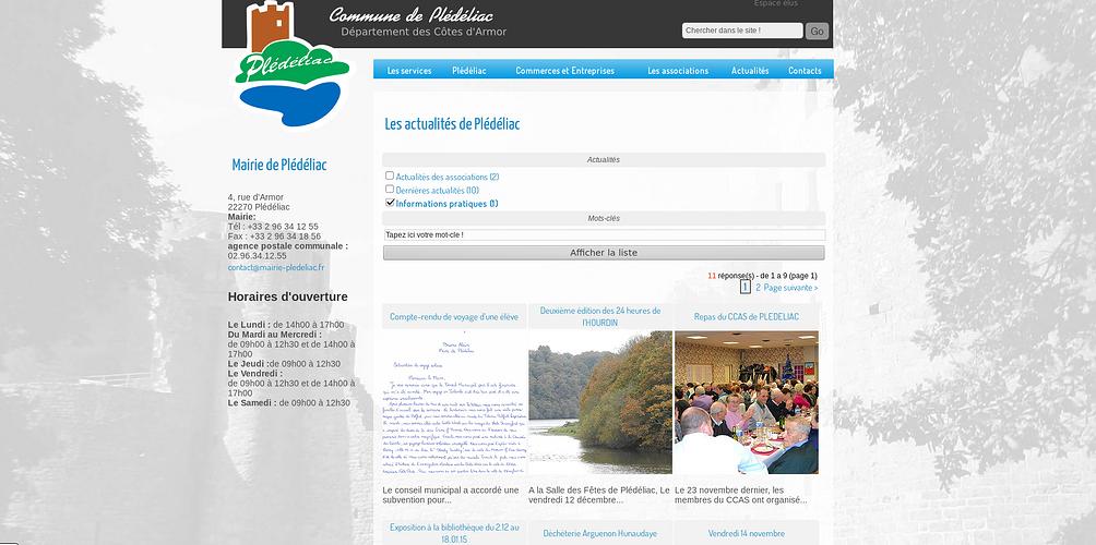 Création du site de la ville de Plédéliac, Côtes d''Armor pledeliac3