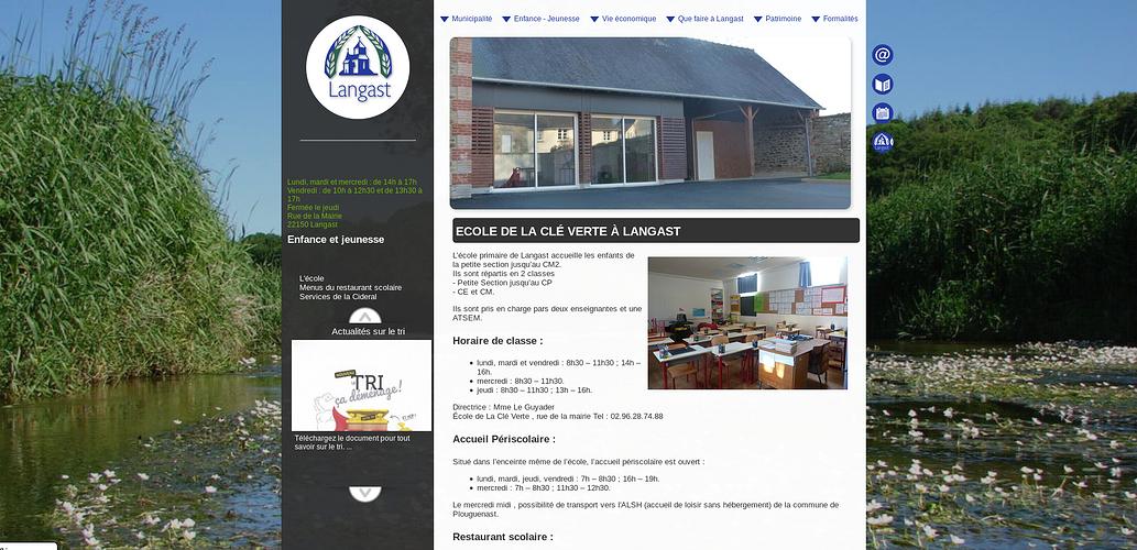 Site Internet de la Mairie de Langast langast2