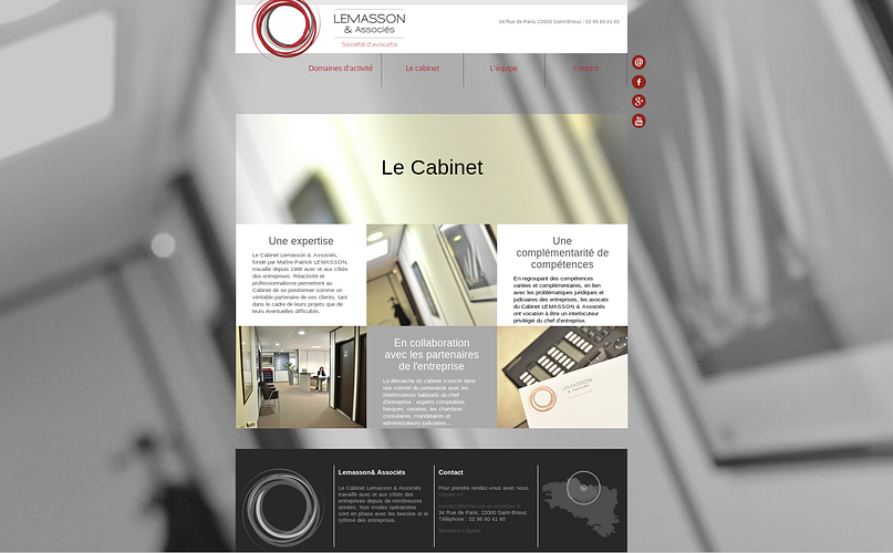 Le cabinet Lemasson & Associés sur Internet lm2