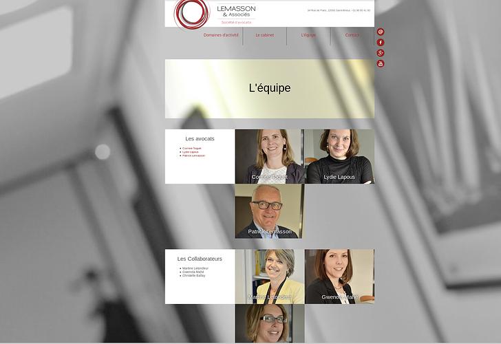 Le cabinet Lemasson & Associés sur Internet lm3