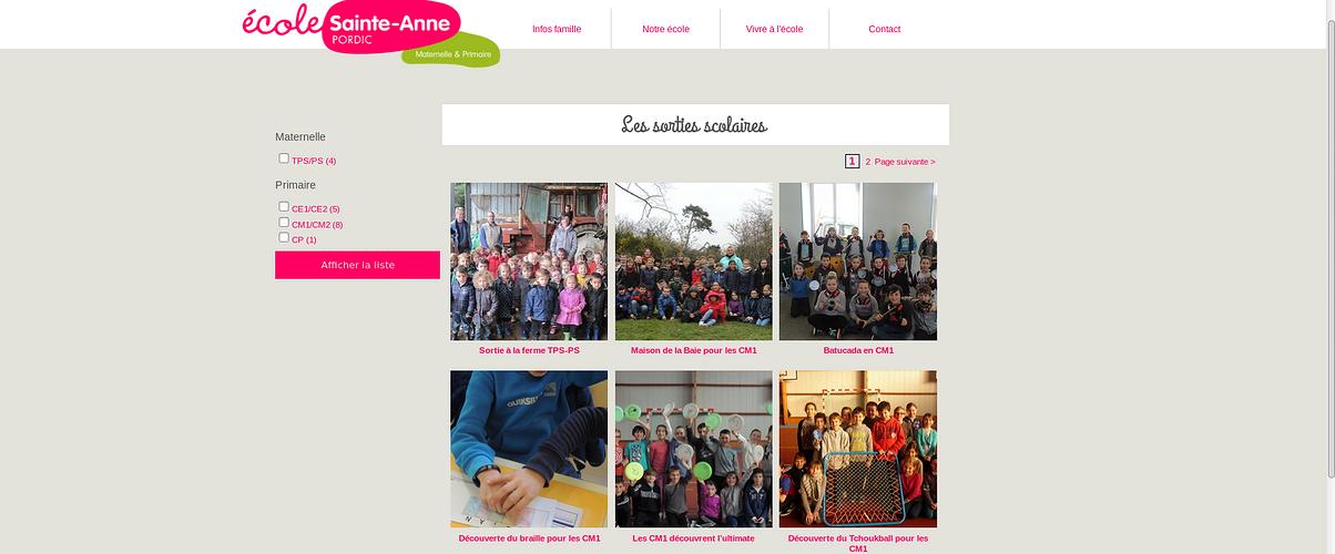 Ecole Ste-Anne - Pordic : le nouveau site est en ligne ste4