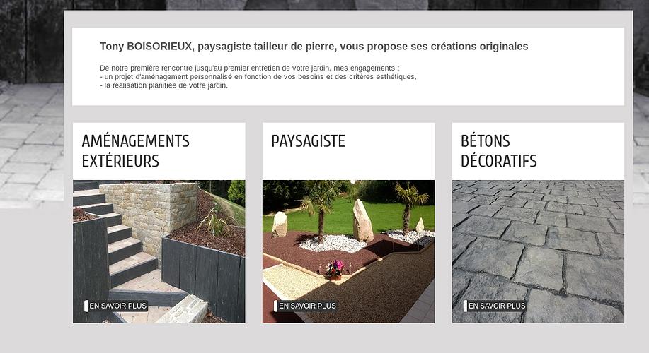 Paysagiste , tailleur de pierre : le nouveau site web de Tony Boisorieux tb2