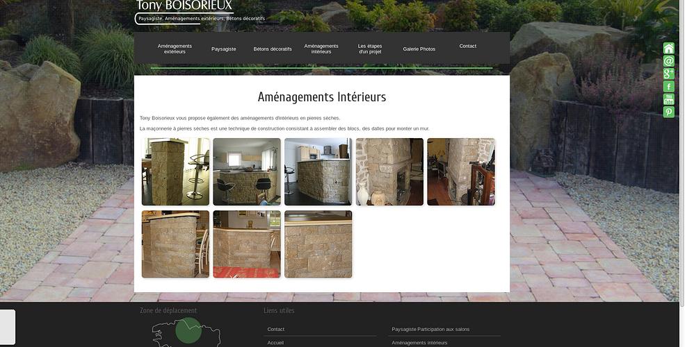 Paysagiste , tailleur de pierre : le nouveau site web de Tony Boisorieux tb3