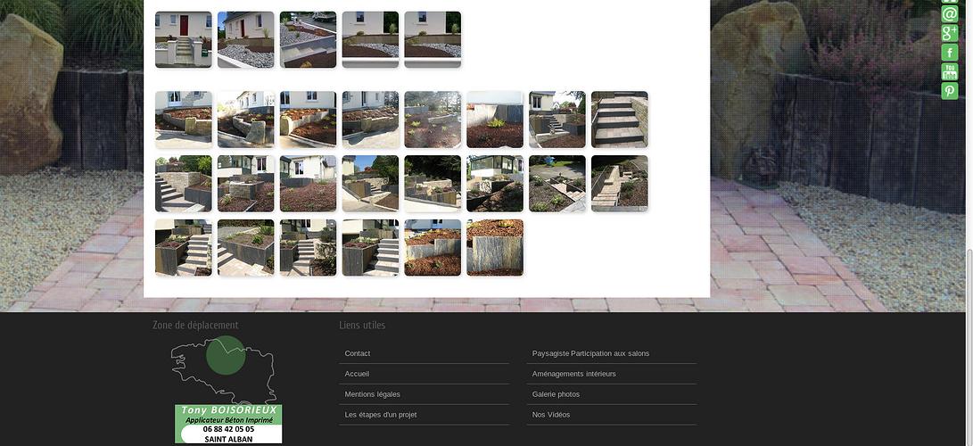 Paysagiste , tailleur de pierre : le nouveau site web de Tony Boisorieux tb4