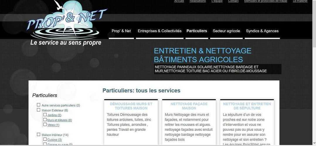 Prop'' Et Nett à Grace Uzel, rayonne sur la Bretagne propetnett2