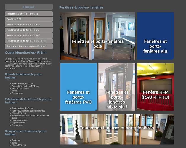 Costa Menuiseries Plérin : nouveau site web screenshot-06012016-115357