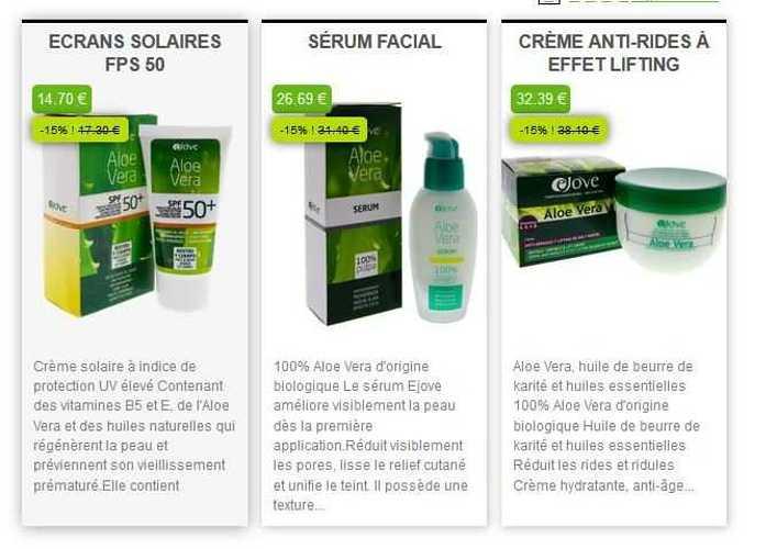 Ejove :e-commerce de produits cosmétiques e3