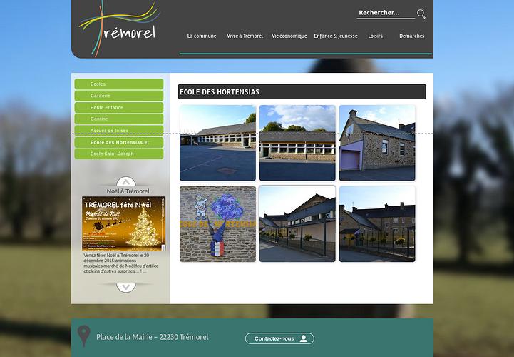 Site web pour la ville de Trémorel tremorel3