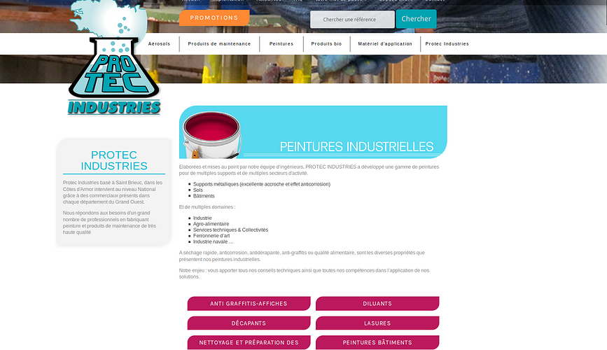 Protec Industries - Trégueux: valoriser et publier le catalogue produits protec3