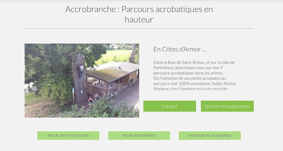 Accrobranches - Indian Forest à Morieux : nouveau site indian3