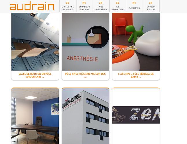 Audrain - Saint-Brieuc: un site design ! audrain3
