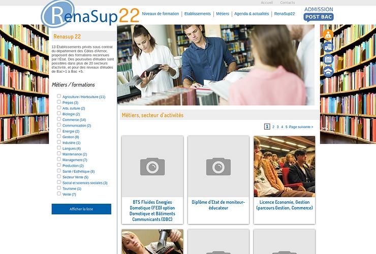 Site Internet de Renasup 22 - enseignement catholique post bac ren2
