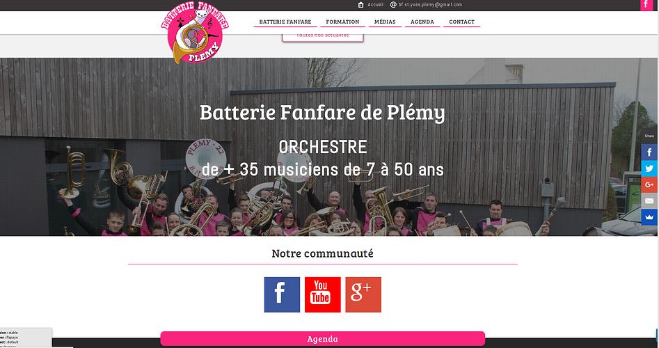 Un site web pour la Batterie fanfare de Plémy bat2
