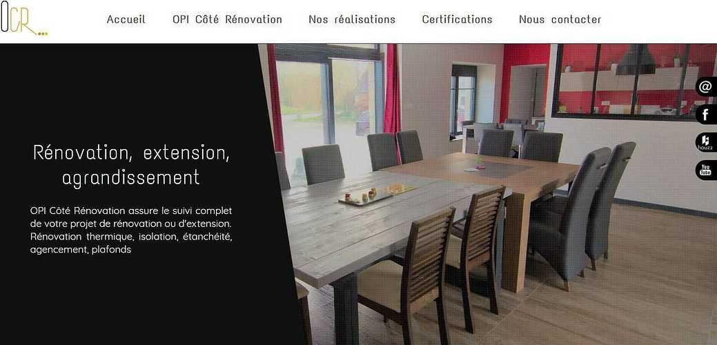 Création Site de OPI Côté Rénovation - Cavan - Côtes d''Armor (Bretagne) opi2