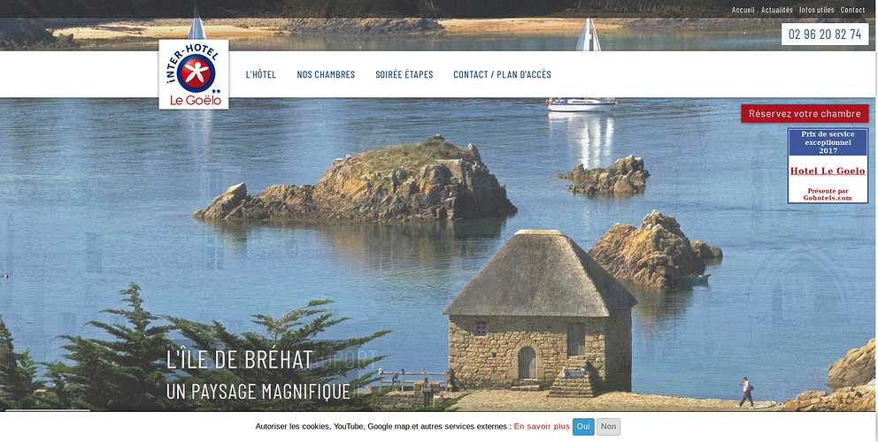Site Web hôtel Le Goëlo - Paimpol - Côtes d''Armor - Bretagne 0