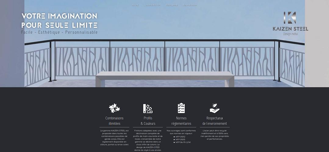 Site Internet de Kaizen Steel - Design metal screenshot2018-07-16garde-corpsaciercombinaisonsillimitees