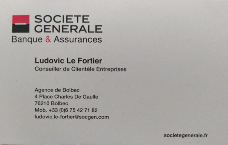 Ludovic Le Fortier, représentant la société générale, un conseiller pour les PME de plus de 10 salariés 0