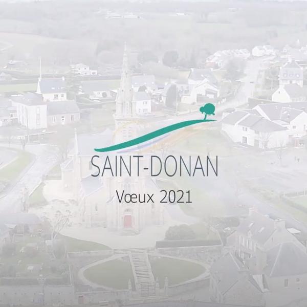 Vidéo des voeux du maire de Saint-Donan